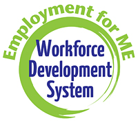 Logo of Employment for ME Workforce Development System